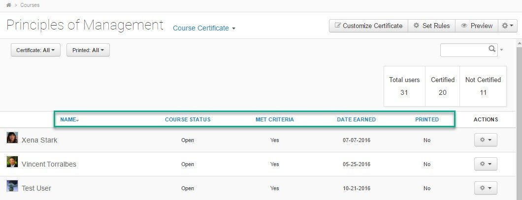 Tips and Tricks – Course Certificate Data Sorting and
