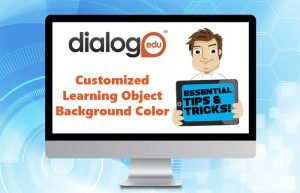 Customized Learning Object Background Color