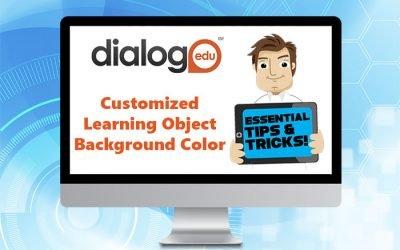 Color de fondo del objeto de aprendizaje personalizado